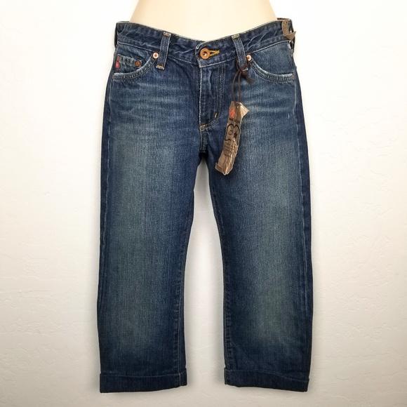 c53d6ce99ad Big Star Jeans   Flip Cuff Cropped Capri Blue   Poshmark